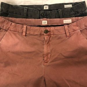 GAP Lot of 2 Girlfriend Chinos 10 Mauve & Blue